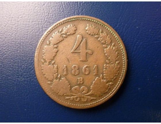 4 krejcary 1861