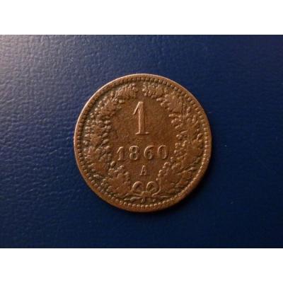 1 krejcar 1860