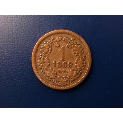 1 krejcar 1869