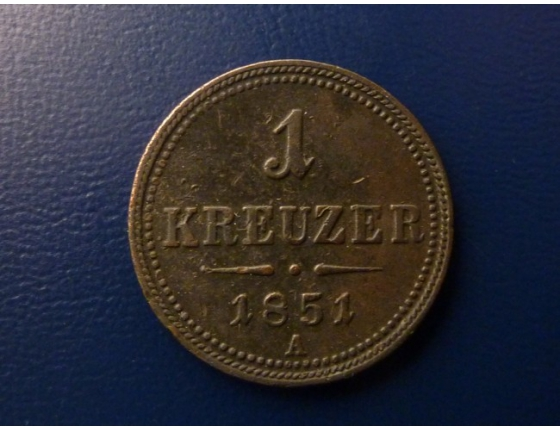 1 krejcar 1851
