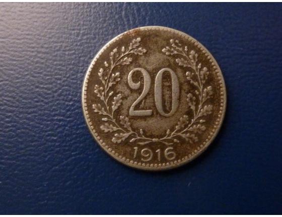 20 haléřů 1916