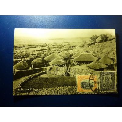 Africa - A postcard Native Village
