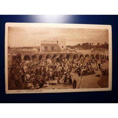 Afrika - pohlednice Marché Arabe