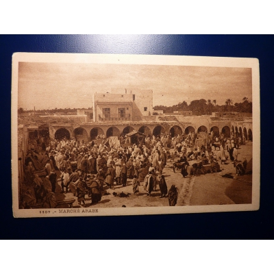 Afrika - Postkarte Marché Arabe