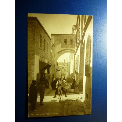 "Asia - postcard Palestine - Arch from ""Ecce Homo"" in 1929"