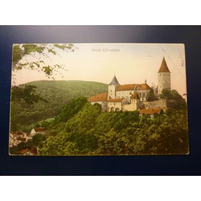 Česlovensko - pohlednice Hrad Křivoklát 1927