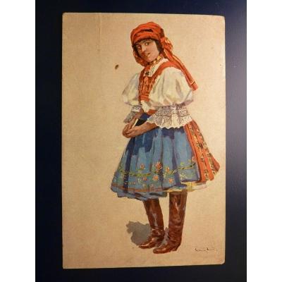 Rudolf Černý: Dívka v kroji