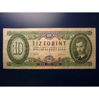 Maďarsko - bankovka 10 Forintů 1962