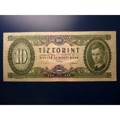 Maďarsko - bankovka 10 Forintů 1969