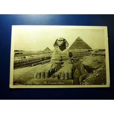 Africa - postcard Egypt - Cairo - Excavated The Sphinx