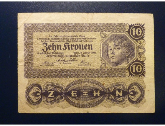 10 korun 1922