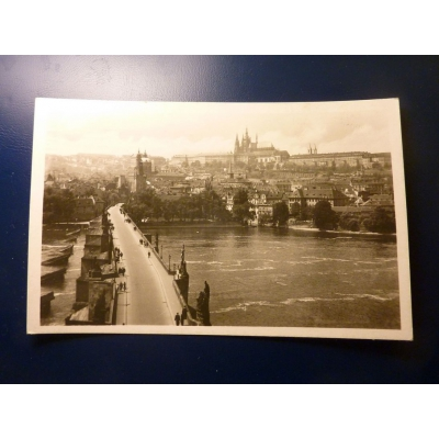 Praha - Hradčany a Karlův most 1948