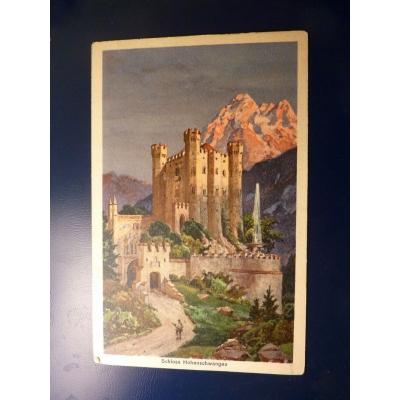 Německo - pohlednice Schloss Hohenschwangau 1927