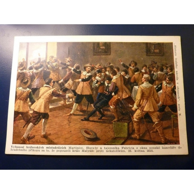 Historie českého národa v obrazech - Vyhození královských místodržících