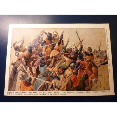 Historie českého národa v obrazech - Čechové dobyli Říma roku 1083