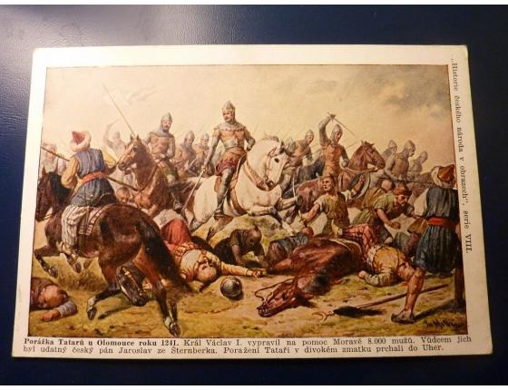 Historie českého národa v obrazech - Porážka Tatarů u Olomouce roku 1241