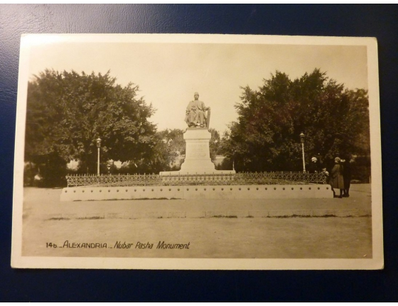 EGYPT ALEXANDRIA Nubar Pasha Monument