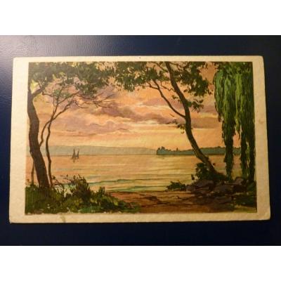 Švýcarsko - pohlednice Lake Geneva 1928