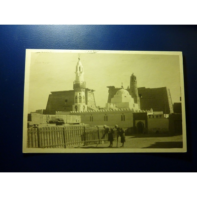 Africa - postcard Egypt, Luxor - Mosque of Abu Haggag 1929