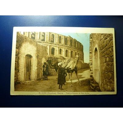 Afrika - Tunesien Postkarte, El-Jem (Thysdrus) 1929