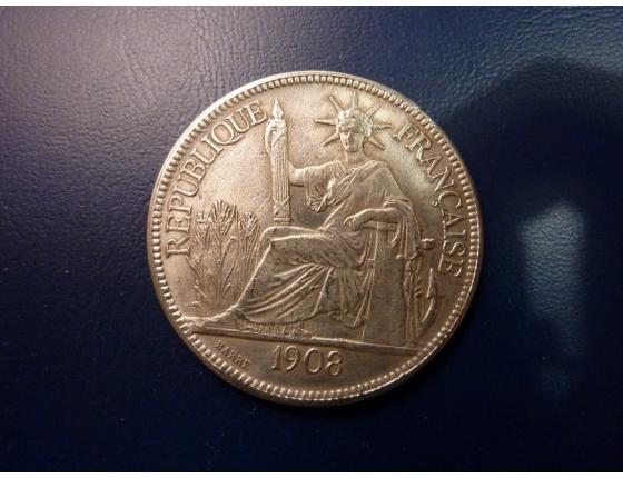 Piastr - francouzská indočína 1908 kopie
