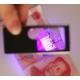 Multifunkční lupa s LED a UV osvětlením + přídatné kuličkové pero