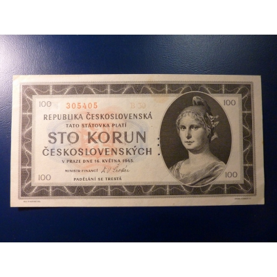 100 Kronen 1945