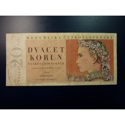 20 Kronen 1949