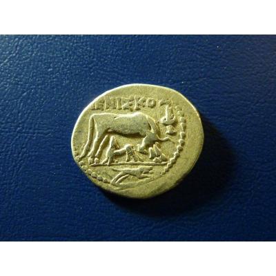 illyria, Apollonia, AR drachma, 53-48 př.nl