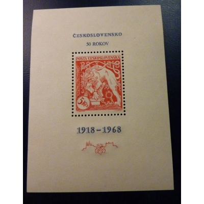 1968 - 50. Jahrestag der Gründung der Tschechoslowakei