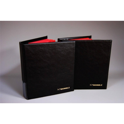 BLACK SCHULZ COIN ALBUM with inserts for 221 coins