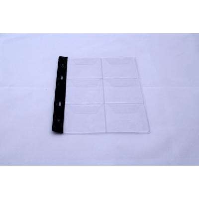 Náhradní list do alba na mince 3x2 (6 mincí/medailí)