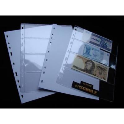 Náhradní list do alba na bankovky - 4 pole, 10 kusů v balení