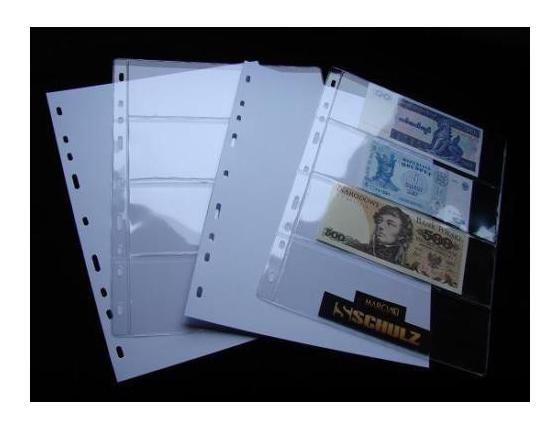 Náhradní list do alba na bankovky - 4 pole