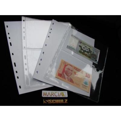 Náhradní list do alba na bankovky - 2 pole