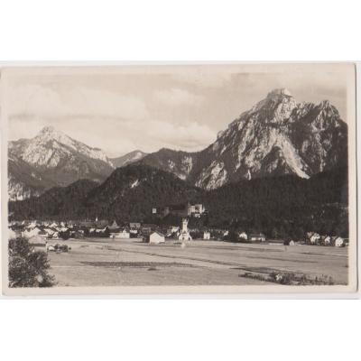 Německo - pohlednice Füssen von Westen 1927