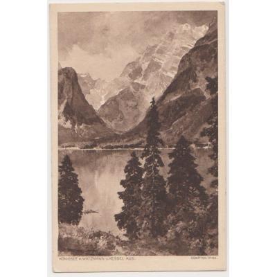 Německo - pohlednice Königssee mit Watzmann