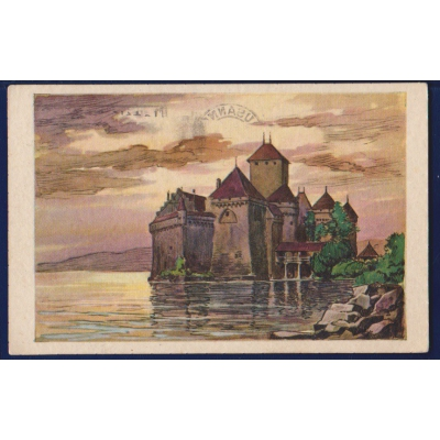 Francie - pohlednice Cháteau de Chillon 1928