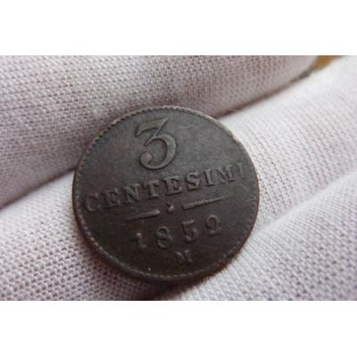 3 centesimi 1852 M