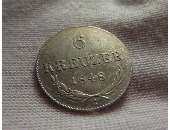 6 krejcarů 1848 C