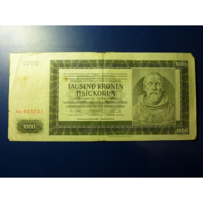 1000 korun 1942, II. vydání, série Aa