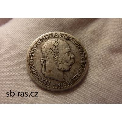 František Josef I. - stříbrná mince 1 koruna 1897