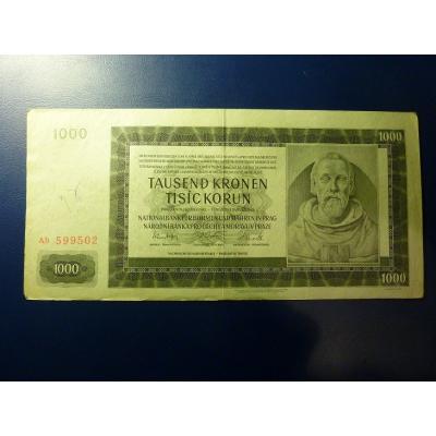 1000 korun 1942 Ab
