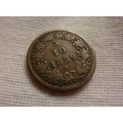 5/10 krejcaru 1859 V