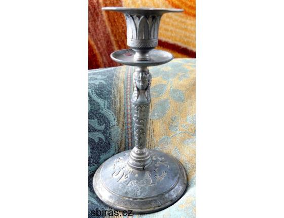 Originální historický cínový svícen EGYPT