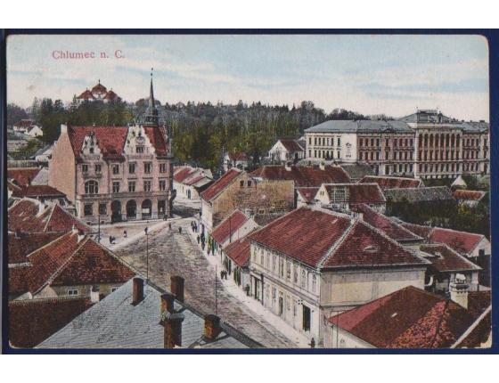 Chlumec nad Cidlinou (náměstí, kostel)