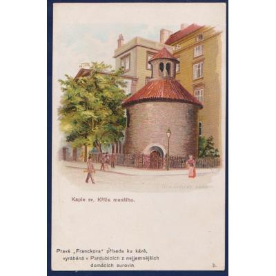 Postkarte: Prag - Kapelle. Überqueren kleiner