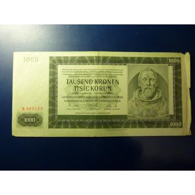 1000 korun 1942 B