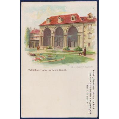 Postkarte: Prag - Wallen Palace