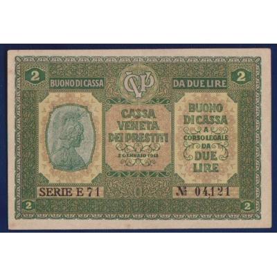 Bankovka: Itálie - 2 liry 1918 Cassa Veneta